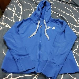 womens medium fitted under armour zip up jacket